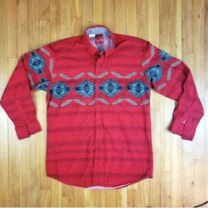 Vintage Mens Roper Cowboy Western Button Down
